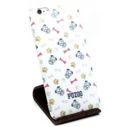 Puzoo - Mintás Szilikon Tok Dico White Apple iPhone 6/6S Plus