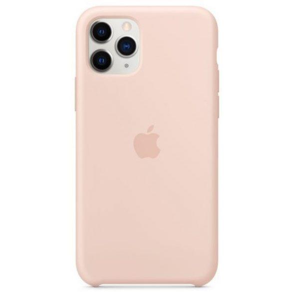 Apple iPhone 11 Pro Gyári Szilikon Tok MWYM2ZM/A - Púder