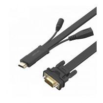 Astrum DA460 HDMI apa - VGA apa / 3,5MM jack audio / micro usb all in one audio - video adapter