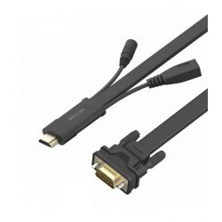 Astrum DA460 HDMI apa - VGA apa / 3,5MM jack audio / micro usb all in one audio - video adapter