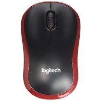 Logitech M185 Wireless Egér - Piros