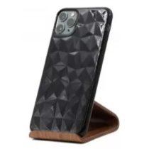 Forcell - Apple iPhone 11 Pro Max hátlapi gyémánt mintás szilikon tok - Fekete