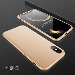 GKK 360 - 3in1 Full Protection iPhone X/XS komplett védelem - Gold