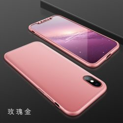 GKK 360 full protection 3in1 Iphone X Rose Gold