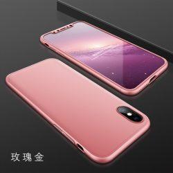 GKK 360 - 3in1 Full Protection iPhone X/XS komplett védelem - Rose Gold