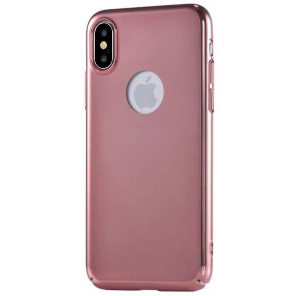 Devia - Mirror iPhone X/XS Fényes Hátlapi Tok - Rose Gold