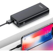 Joyroom D-M223 10000mAh 18W QC 3.0 Fast Charging USB + Type-C Power Bank - Fekete
