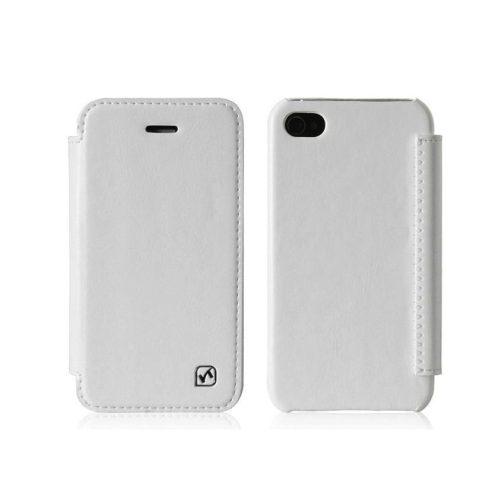Hoco - Crystal series iPhone 4/4s könyv tok - fehér