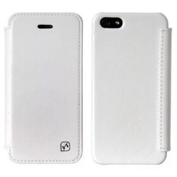 Hoco - Crystal series iPhone 5/5s/se könyv tok - fehér