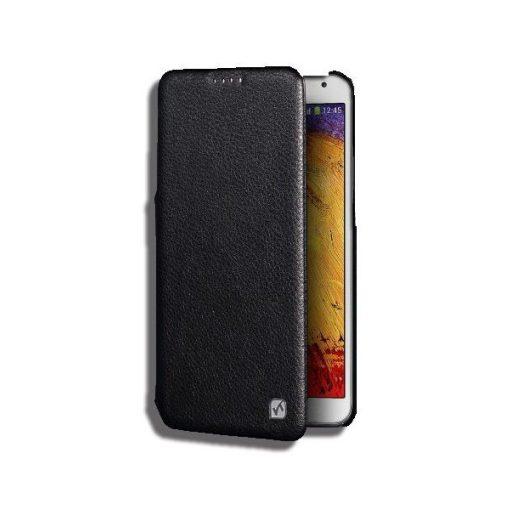 Hoco - Duke series bőr Samsung Note3 könyv tok - fekete