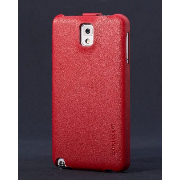 Hoco - Duke series bőr Samsung Note3 flip tok - piros