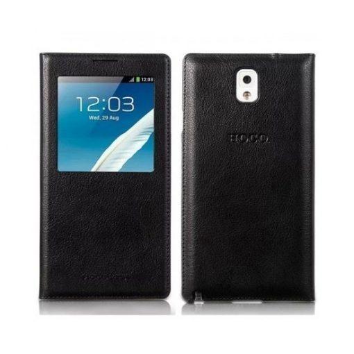 Hoco - Original series bőr ablakos Samsung Note3 könyv tok - fekete