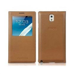 Hoco - Original series bőr ablakos Samsung Note3 könyv tok - barna