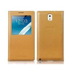 Hoco - Original series bőr ablakos Samsung Note3 könyv tok - sárga