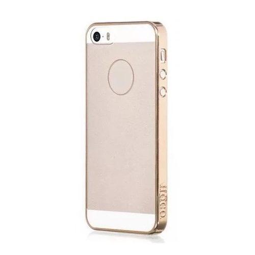 Hoco - Defender series fémhatású keretes matt hátuljú iPhone 5/5s/se kemény tok - arany