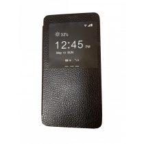 Hoco - Fulness series licsi mintás Samsung Note3 könyv tok - fekete
