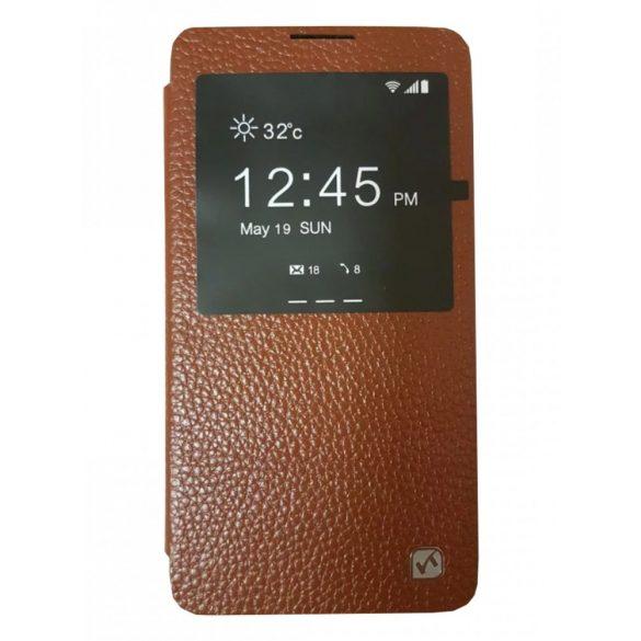 Hoco - Fulness series licsi mintás Samsung Note3 könyv tok - barna