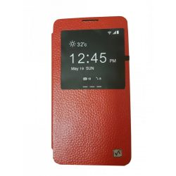 Hoco - Fulness series licsi mintás Samsung Note3 könyv tok - piros
