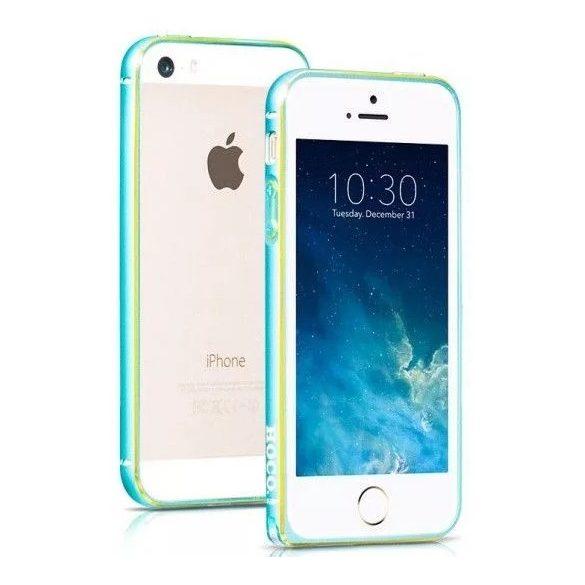 Hoco - Blade series csavaros rögzítésű iPhone 5/5s/se fém keret (bumper) - kék