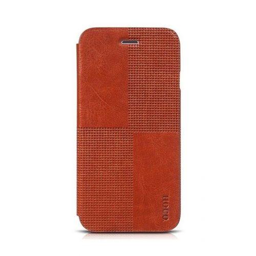 Hoco - Crystal series fashion bőr iPhone 6/6s könyv tok - barna