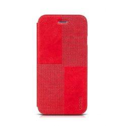 Hoco - Crystal series fashion bőr iPhone 6/6s könyv tok - piros