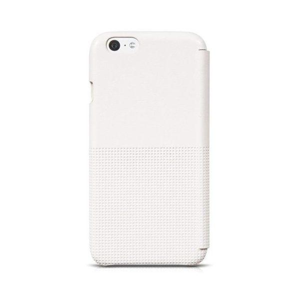 Hoco - Crystal series fashion bőr iPhone 6/6s könyv tok - fehér