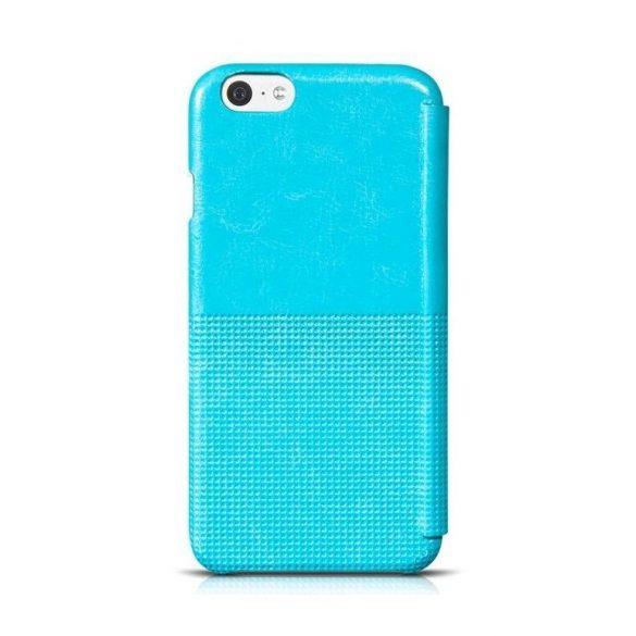Hoco - Crystal series fashion bőr iPhone 6/6s könyv tok - kék