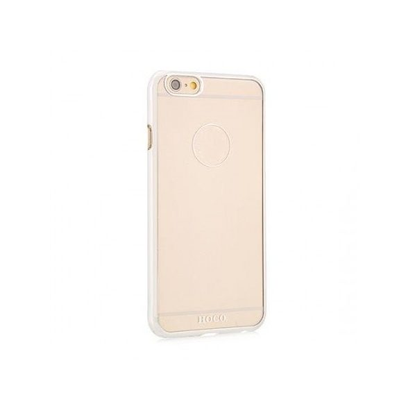 Hoco - Defender series fényes keretes iPhone 6/6s kemény tok - ezüst