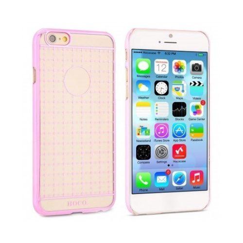 Hoco - Defender series fényes keretes gofri mintás iPhone 6/6s kemény tok - pink