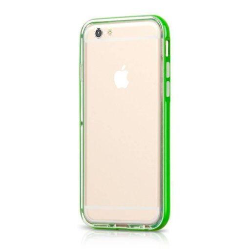 Hoco - Ster series fényes keretes két részes hibrid iPhone 6/6s tok - zöld