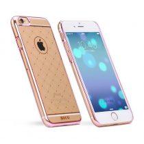 Hoco - Defender series fényes keretes virág sormintás iPhone 6/6s kemény tok - pink