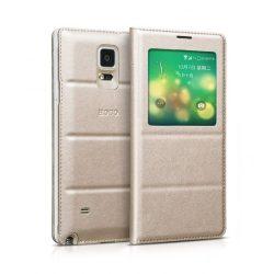 Hoco - Original series bőr ablakos Samsung Note4 könyv tok - arany