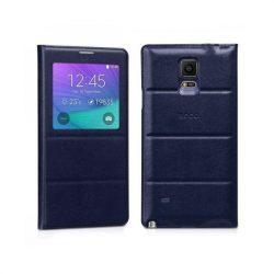 Hoco - Original series bőr ablakos Samsung Note4 könyv tok - kék