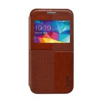 Hoco - Crystal series Samsung S5 mini könyv tok - barna