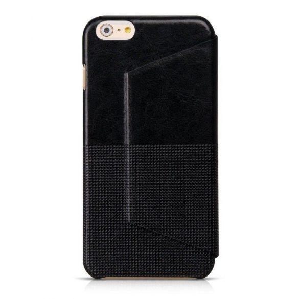 Hoco - Crystal series fashion bőr iPhone 6plus/6splus könyv tok - fekete