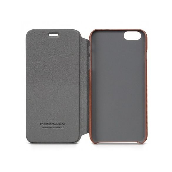 Hoco - Crystal series fashion bőr iPhone 6plus/6splus könyv tok - barna