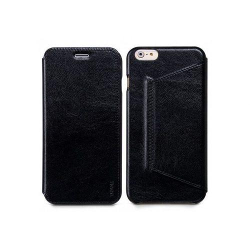Hoco - Crystal series classic bőr iPhone 6plus/6splus könyv tok - fekete