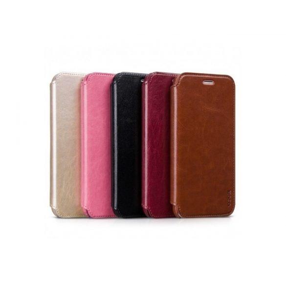 Hoco - Crystal series classic bőr iPhone 6plus/6splus könyv tok - barna