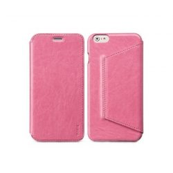 Hoco - Crystal series classic bőr iPhone 6plus/6splus könyv tok - pink