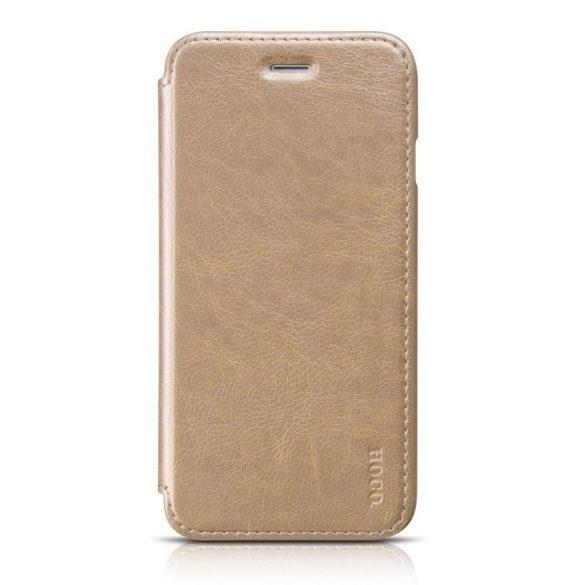 Hoco - Crystal series classic bőr iPhone 6plus/6splus könyv tok - arany