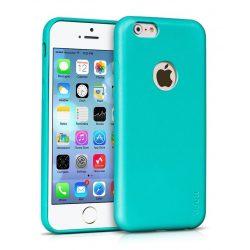 Hoco - Paris series matt egyszínű bőr iPhone 6plus/6splus tok - kék
