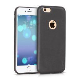 Hoco - Paris series matt egyszínű bőr iPhone 6plus/6splus tok - szürke