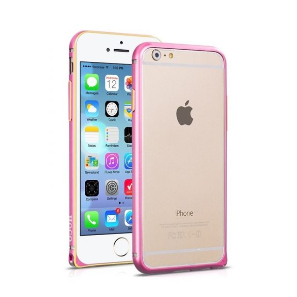 Hoco - Blade series csavaros rögzítésű iPhone 6plus/6splus fém keret (bumper) - pink