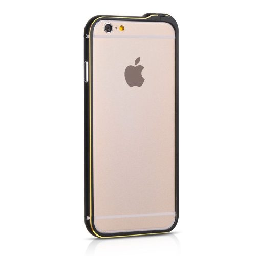 Hoco - Blade series Fedora csavaros rögzítésű iPhone 6plus/6splus fém keret (bumper) - fekete