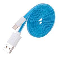 Hoco - UPM04 lapos design micro usb adat/töltő kábel 120cm - kék
