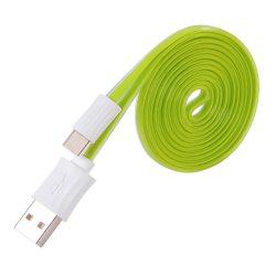 Hoco - UPM04 lapos design micro usb adat/töltő kábel 120cm - zöld