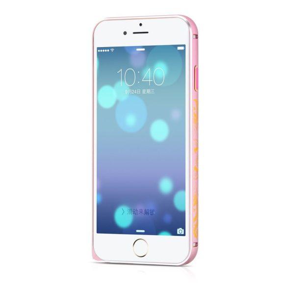 Hoco - Blade series design mintás csatos rögzítésű iPhone 6/6s fém keret (bumper) - pink