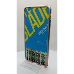 Hoco - Blade series design mintás csavaros rögzítésű iPhone 6plus/6splus fém keret (bumper) - pink