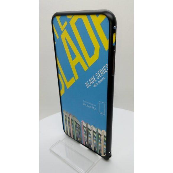 Hoco - Blade series design mintás csavaros rögzítésű iPhone 6plus/6splus fém keret (bumper) - fekete