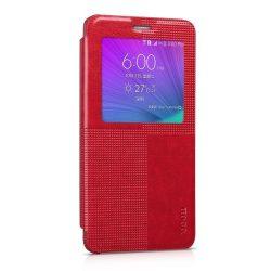Hoco - Crystal series fashion bőr magnetic sleep Samsung Note4 könyv tok - piros